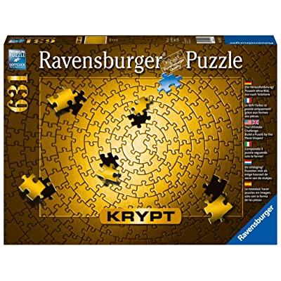Ravensburger Krypt Puzzle Gold 631 Piece Jigsaw Puzzle for Adults – Every Piece is Unique, Softclick Technology Means Pieces Fit Together Perfectly: Toys & Games