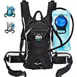Atlapa Sports lightweight Hydration Backpack-2L TPU Leak Proof Water Bladder-Insulated Pocket Keeps Liquids Cold-Padded Shoulder & Adjustable Straps-Daypack for Hiking Skiing, Running, Cycling