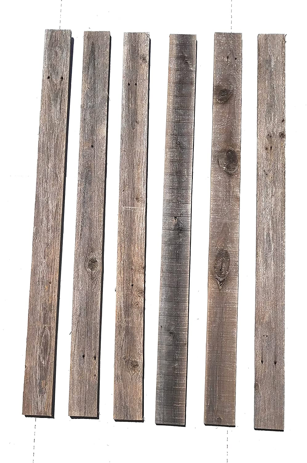 Projects and Decor Rustic Weathered Reclaimed Wood Planks for DIY Crafts 20 Planks - 48 Long