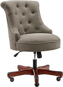 Linon Sinclair Dolphin Gray Office Chair