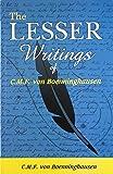 The Lesser Writings of C.f. Von Boenninghausen