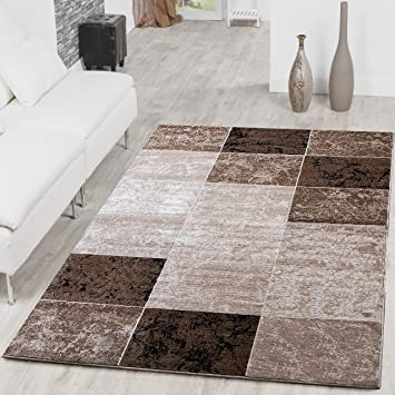 alfombra asequible de cuadros moderno para saluoacuten color