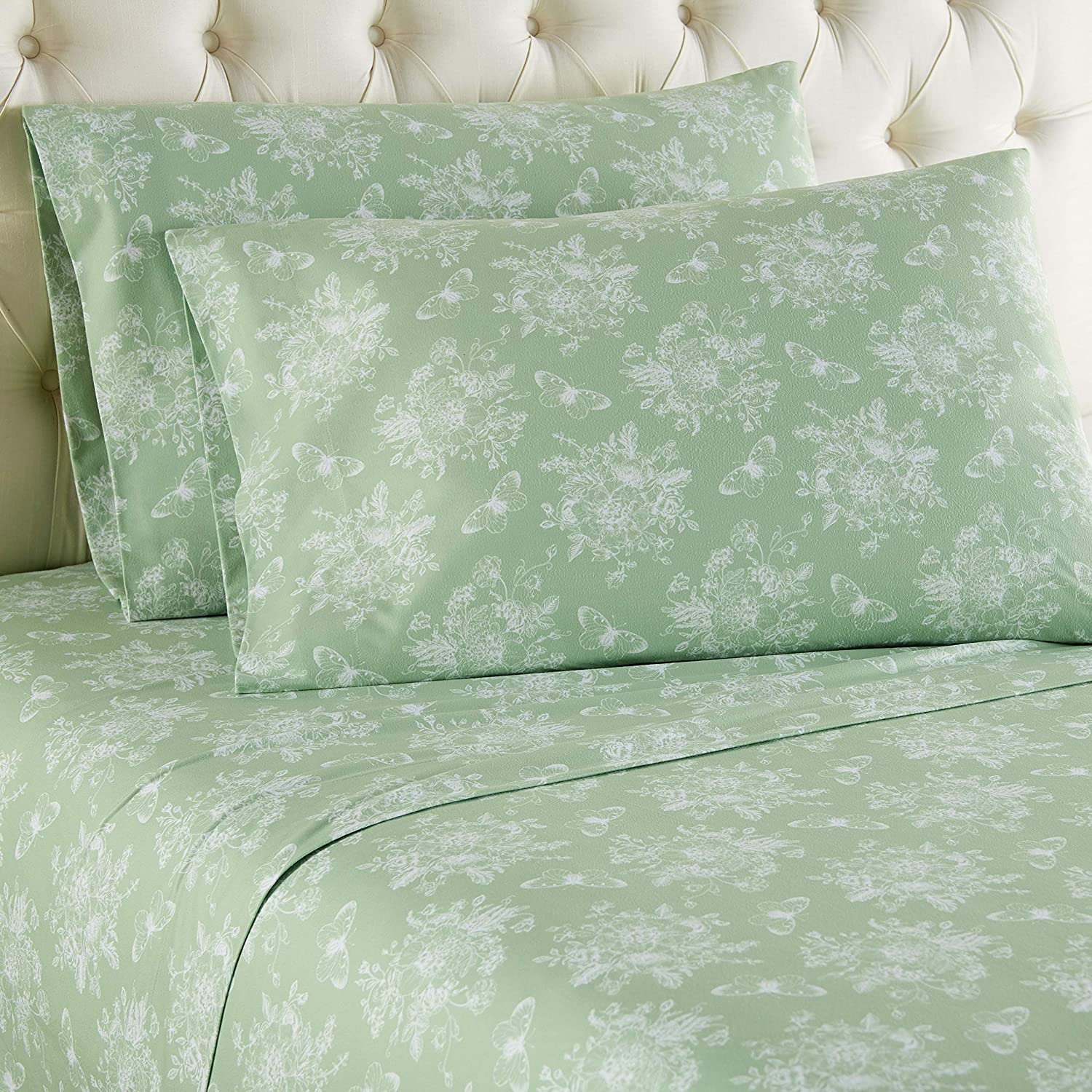 Cherry Blossom Twin Thermee Micro Flannel Sheet Set