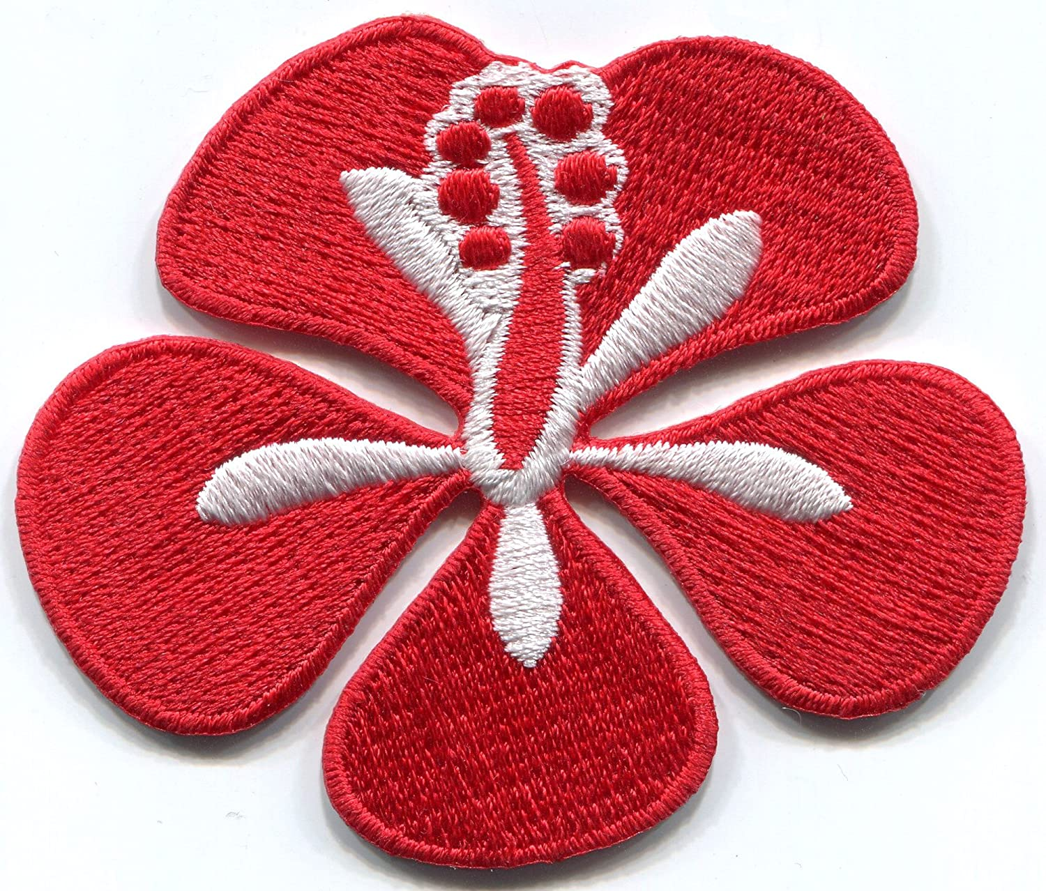 "/""HI/""-  HAWAII STATE SHAPE- Iron On Patch//Tropical Surfing Pineapple Hibiscus"