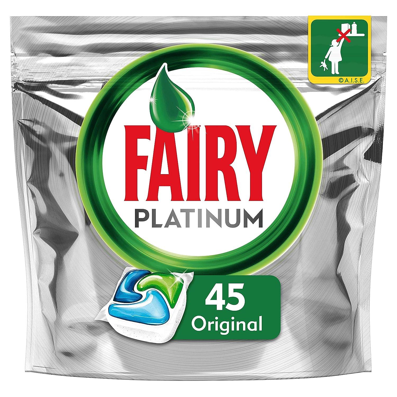 Fairy Platinum Original Cápsulas de Lavavajillas - Pack de 45 Unidades