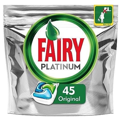 Fairy Platinum Original Cápsulas de Lavavajillas - Pack de 45 ...