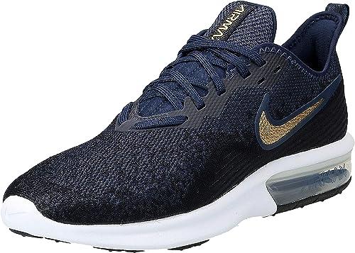Nike Wmns Air MAX Sequent 4, Zapatillas de Running para Mujer, Negro (Black/Mtlc Gold/Obsidian/White/Obsidian 003), 40.5 EU: Amazon.es: Zapatos y complementos