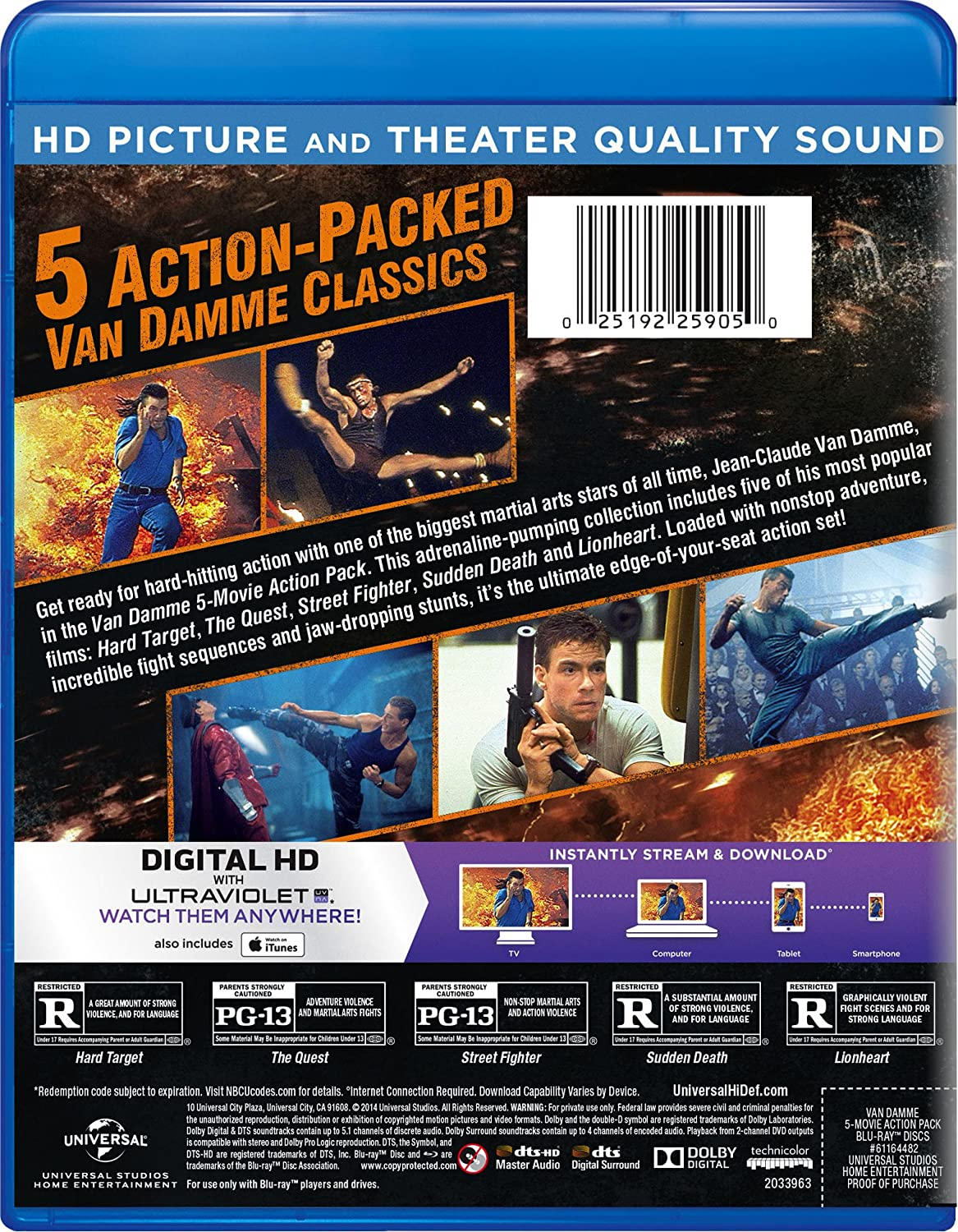 Van Damme 5 Movie Action Pack: Hard Target The Quest