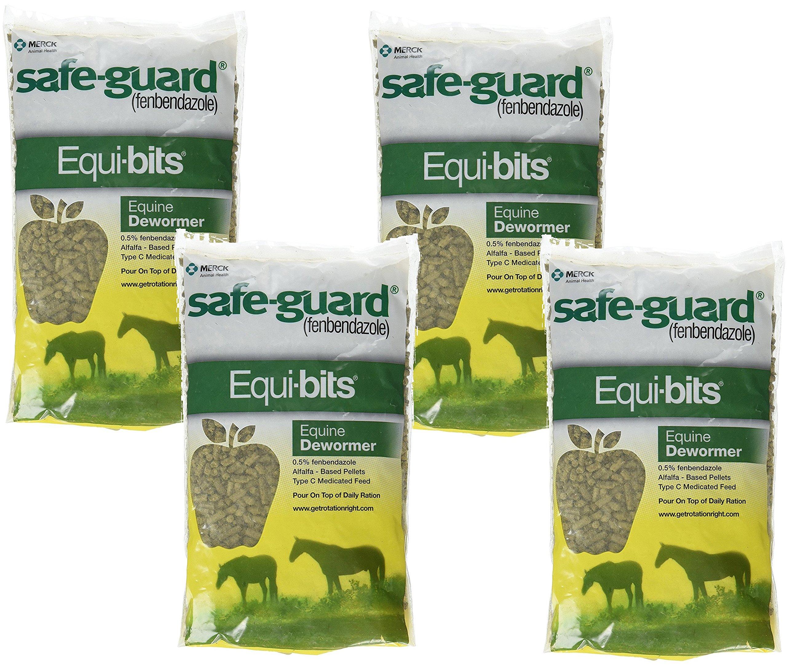 (4 Pack) Intervet Safeguard Dewormer Pellets for Horses, 1.25-Pound each