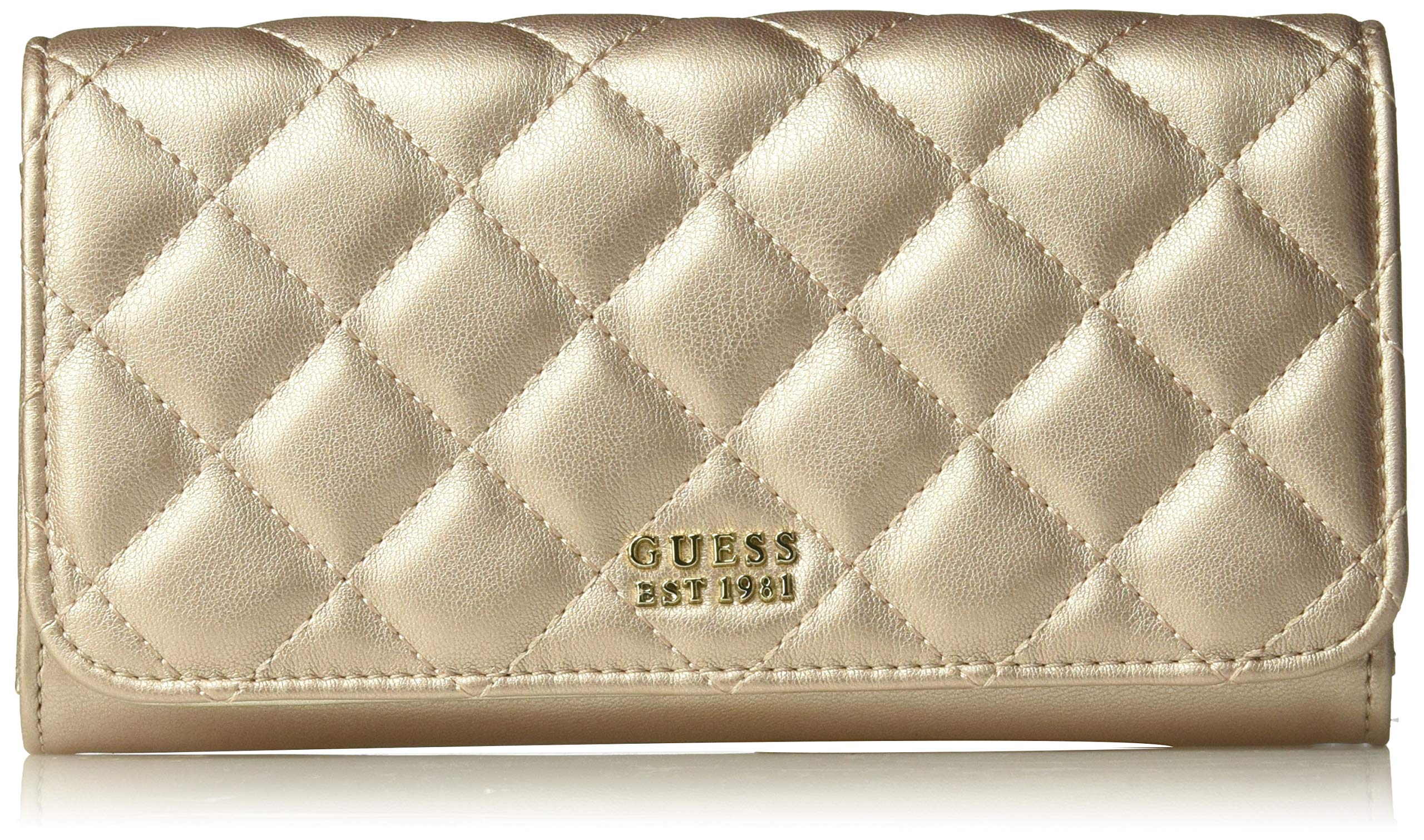GUESS Victoria Large Flap Organizer Wallet, champagne