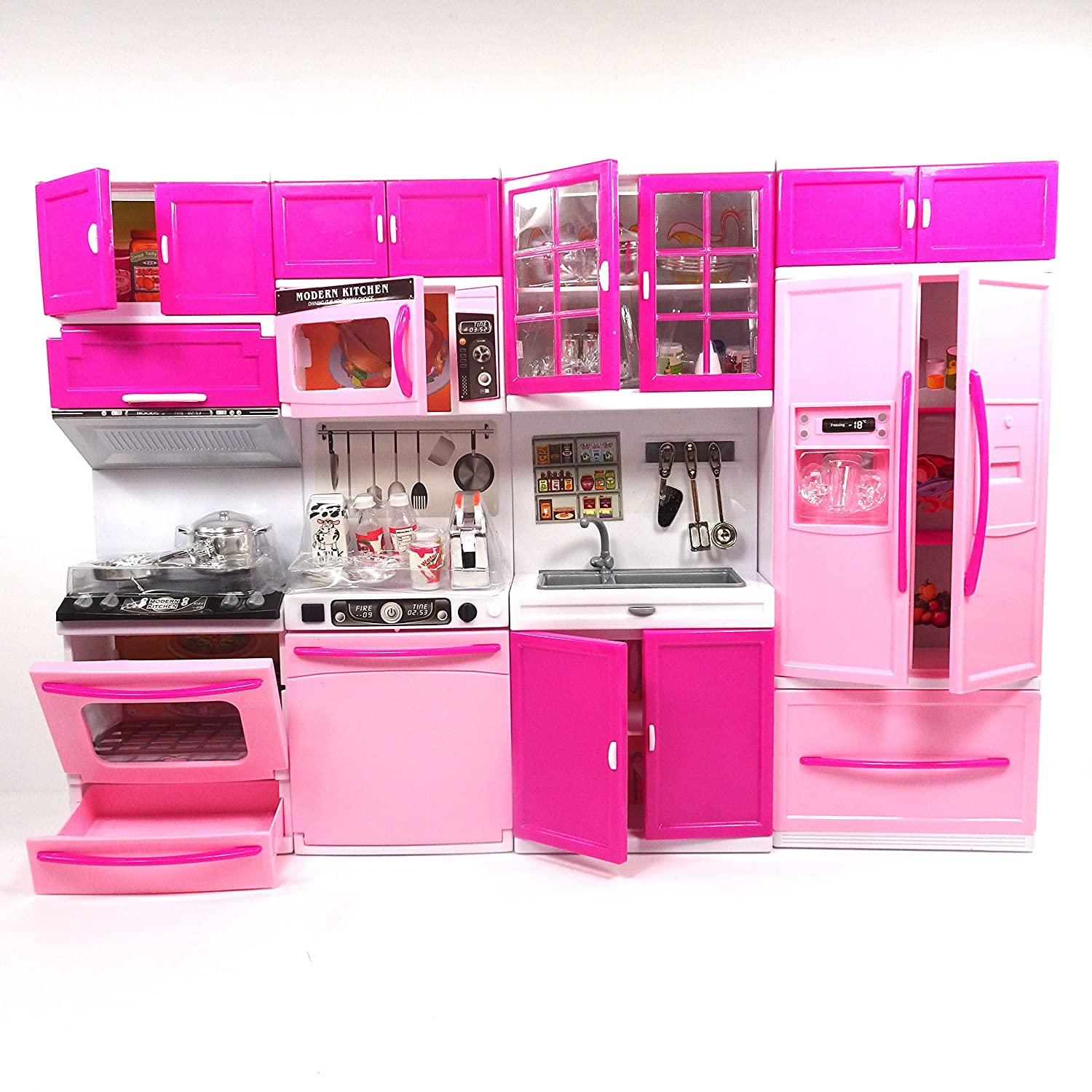 Envo toys large doll kitchen play set toy pretend play for Large kitchen set