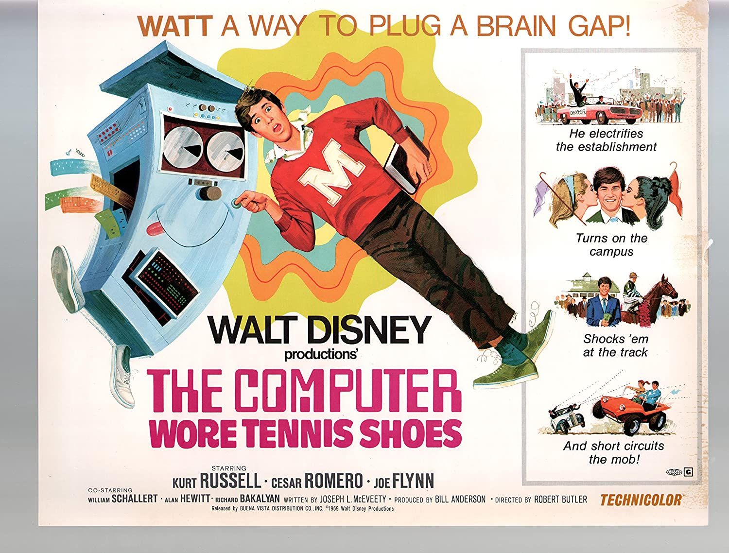 Amazon.com: MOVIE POSTER: Computer Wore Tennis Shoes-Lot Of Nine ...