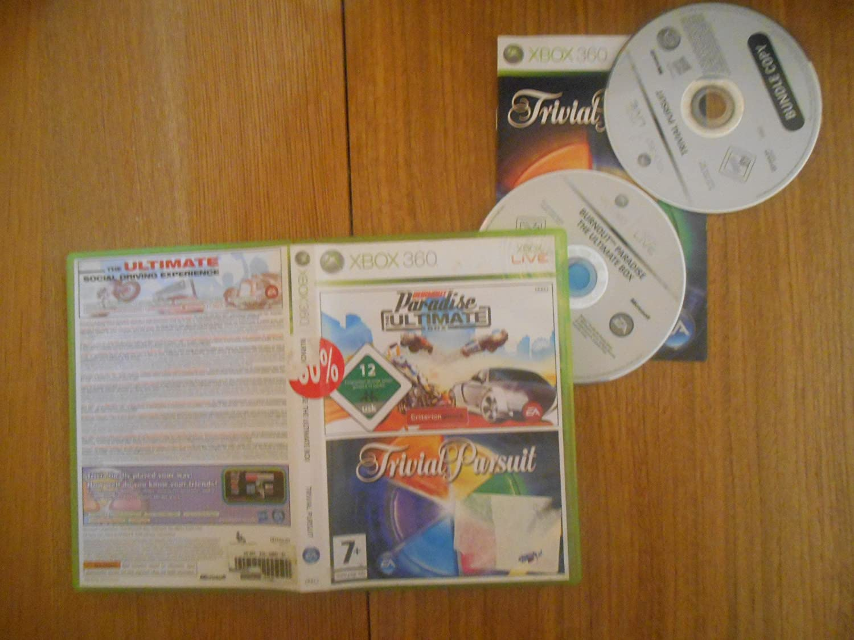 Burnout Paradise The Ultimate Box & Trivial Pursuit - Double Pack - Doble Pack [Xbox 360] [Producto Importado]: Amazon.es: Videojuegos