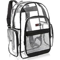 MGgear - Mochila escolar de PVC transparente con múltiples bolsillos