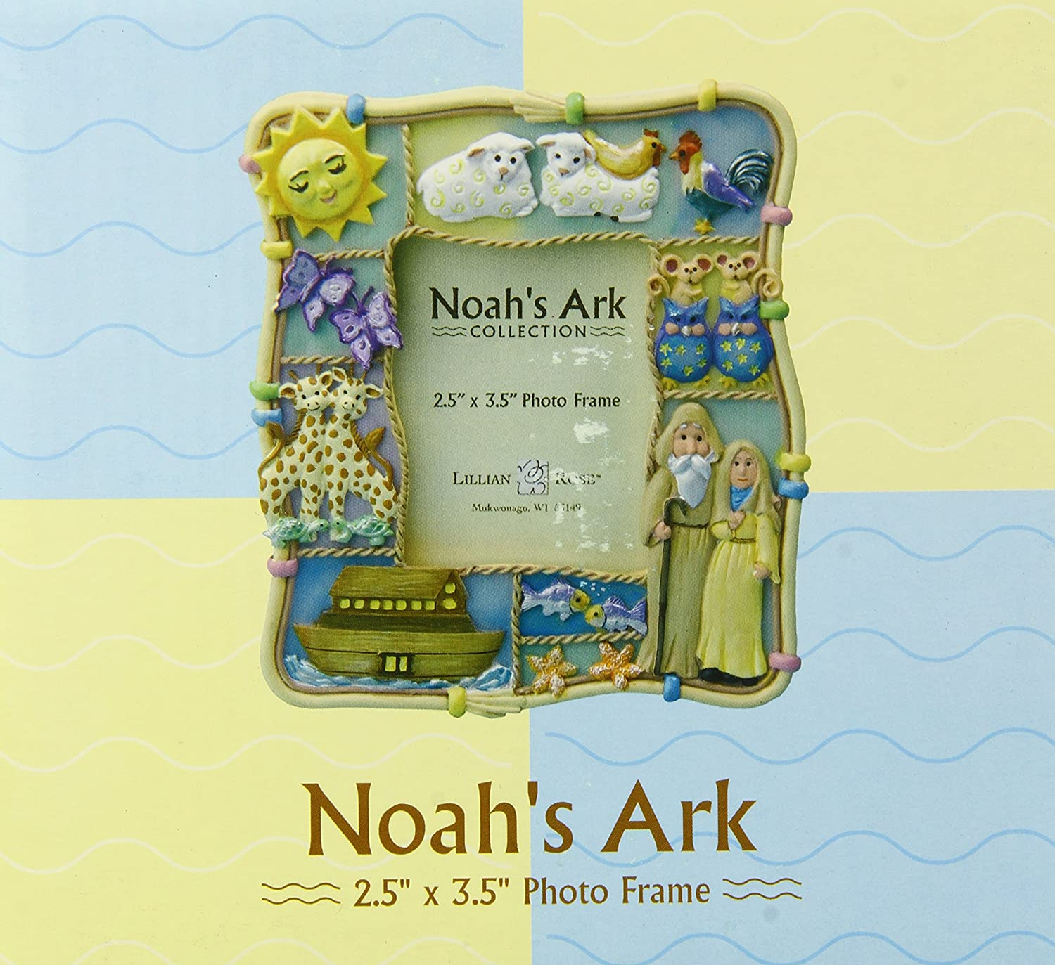 Lillian Rose Noah's Ark Resin Photo Frame, 2.5 x 3.5 2.5 x 3.5 24-2952