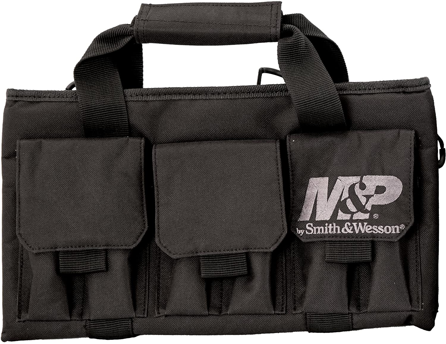 Smith Wesson M P Pro Tac Padded Single Handgun Case with Ballistic Fabric Construction and External Pockets for Shooting, Range, Storage and Transport