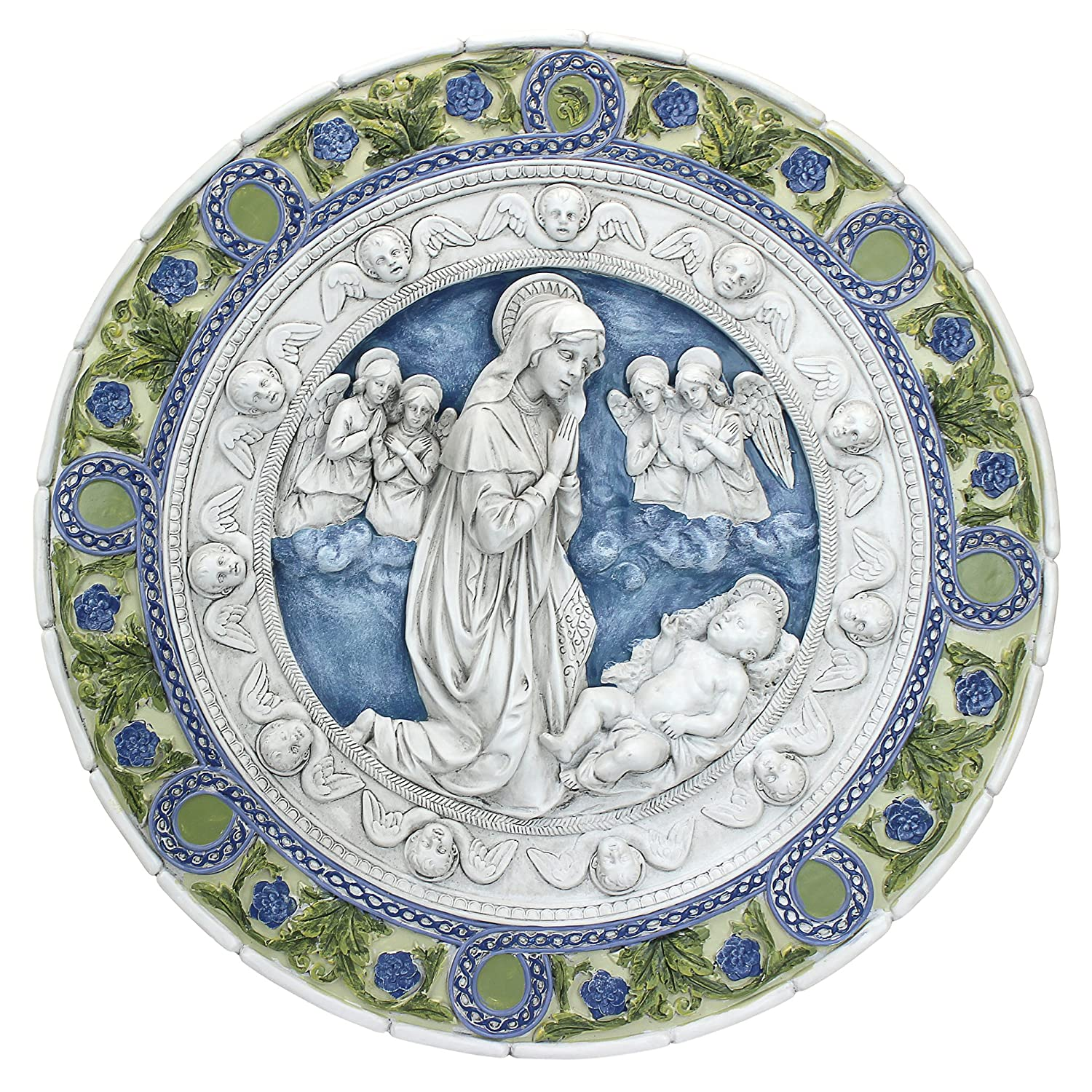 Amazon.com: Design Toscano Adoration of the Child Roundel Wall ...