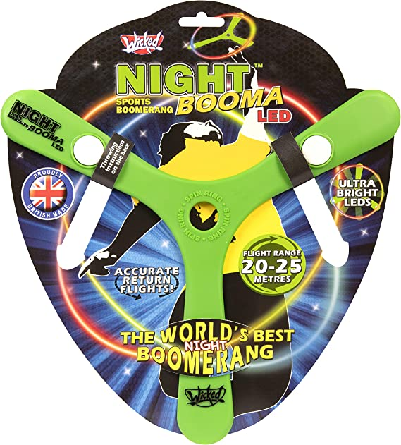 Wicked WKNIL Booma nocturno LED exterior Boomerang, verde , color ...