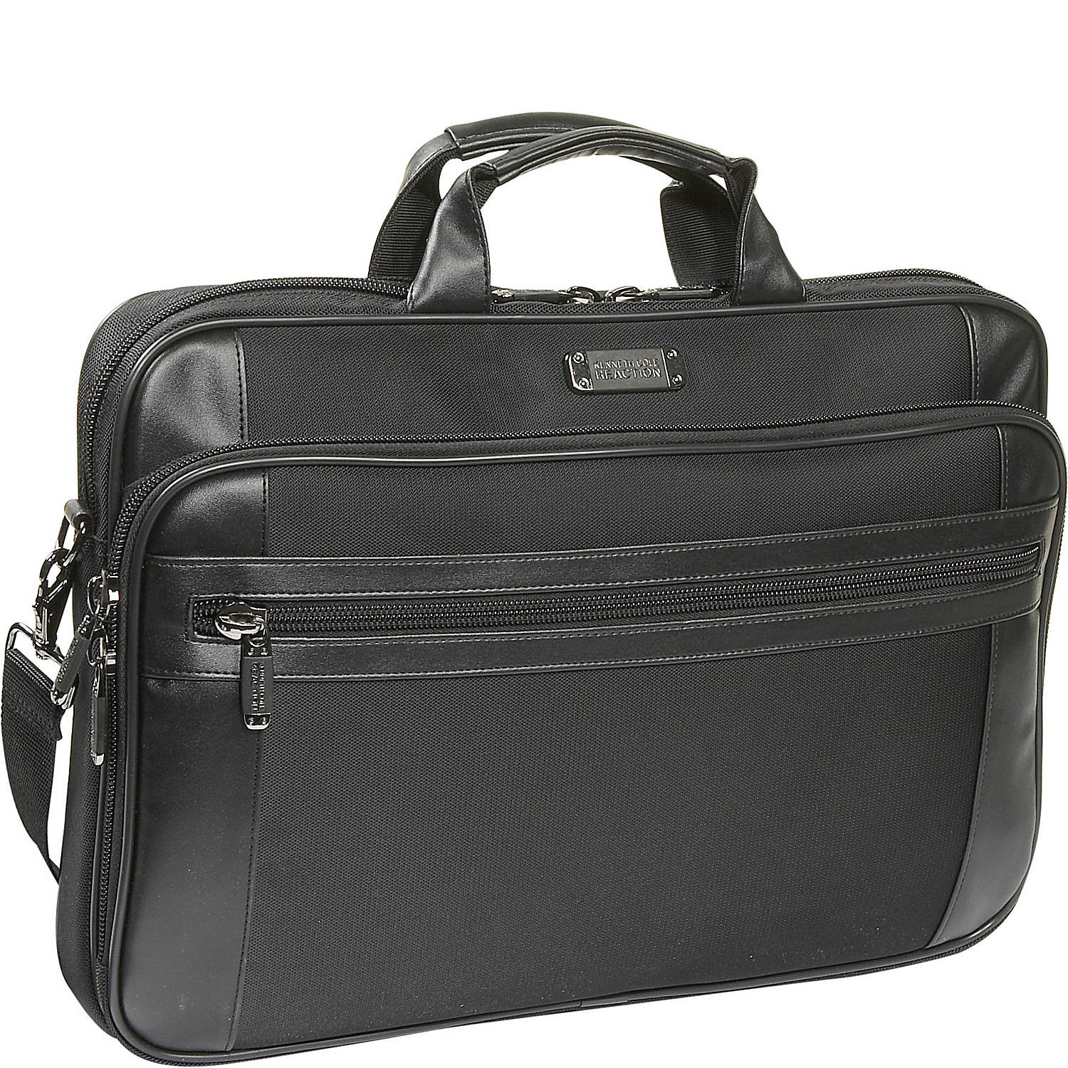 "Kenneth Cole Reaction 18.4"" Slim Top Zip Laptop Portfolio Laptop Bag, Black"