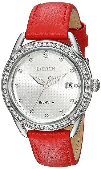 Citizen LTR Reloj de mujer eco-drive 37mm analógico correa de cuero FE6110-04A: Amazon.es: Relojes