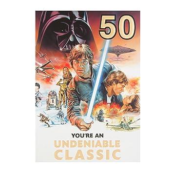 Amazon.com: Edad 50 Hallmark star wars 50th Tarjeta de ...