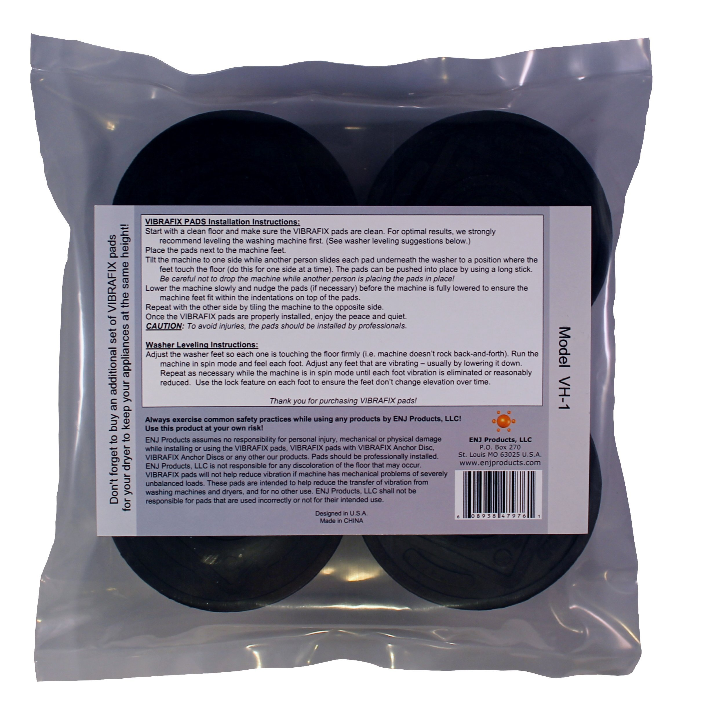 Washer Anti-Vibration and Anti-Walk Pads VIBRAFIX