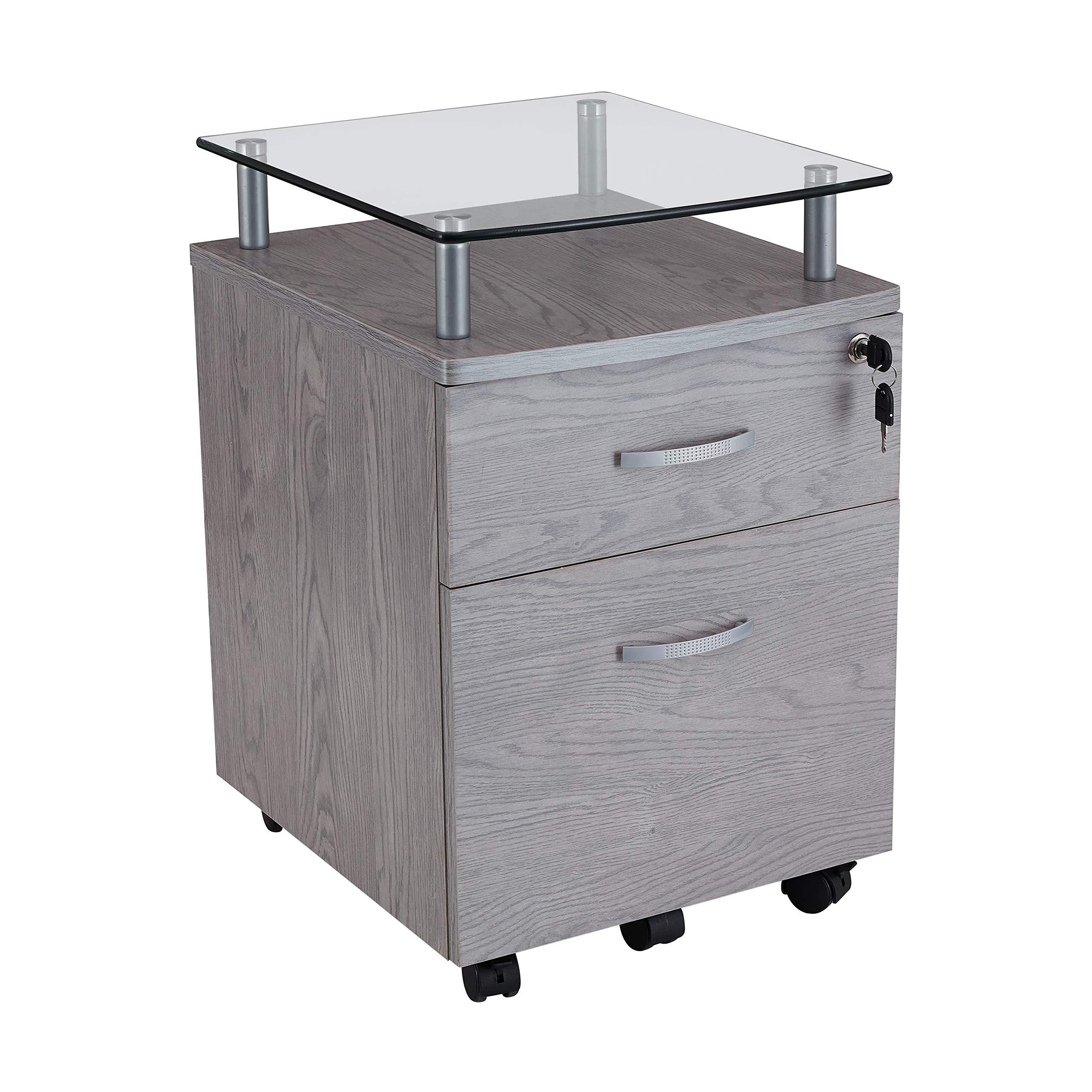 Techni Mobili Rollingg File Cabinet, Regular, gray by Techni Mobili