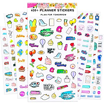 Amazon.com: Planner Stickers - Juego de pegatinas para ...