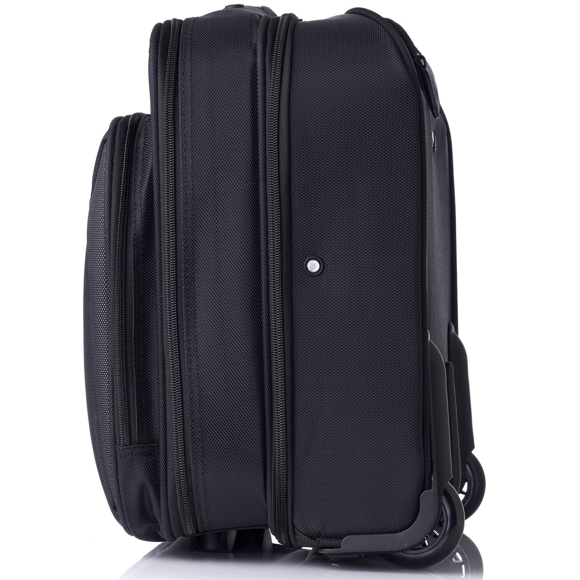Alpine Swiss Rolling Laptop Briefcase Wheeled Overnight Carry on Bag Up to 15.6 Inches Notebook - Carries Legal Size Files by alpine swiss (Image #6)