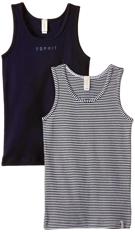 ESPRIT Bodywear Boy's Basic Mini Stripe DP Basic Top Set of 2 Vest 995EF8T901