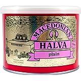 Greek Macedonian Halva with Vanilla Net Weight 500gr Tin can.