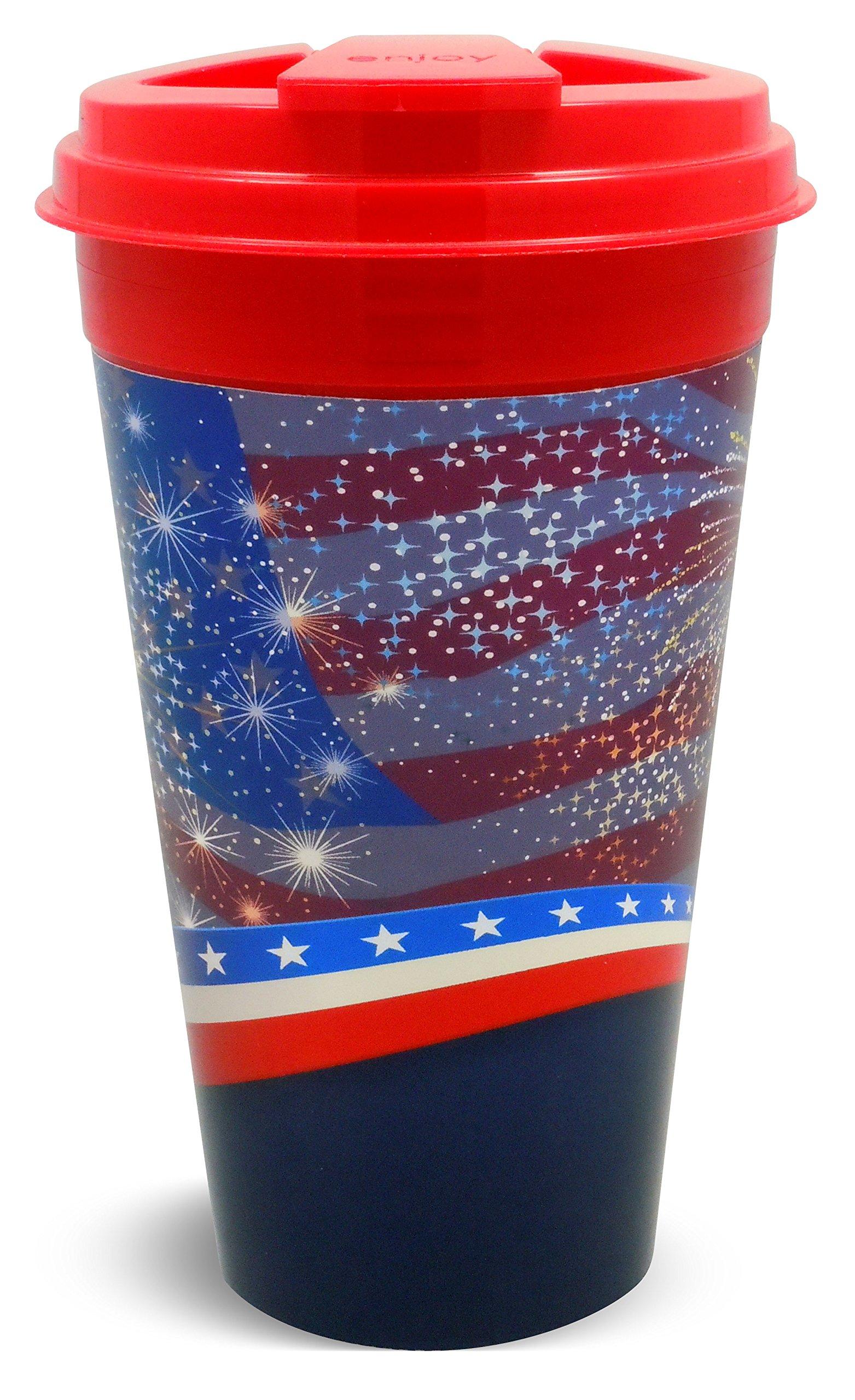 Easy Traveler Everyday Collection/American Spirit Insulated Travel Mug, 16 Oz., Set of 2