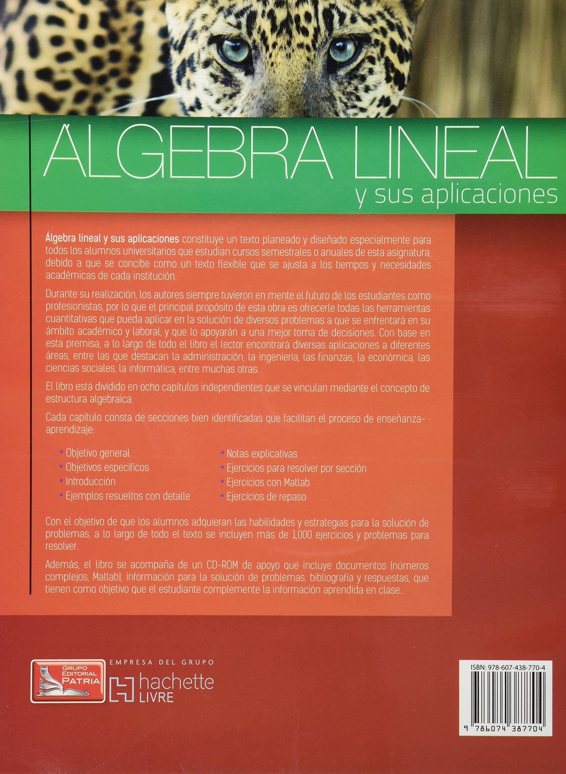 Algebra Lineal Y Sus Aplicaciones Spanish Edition