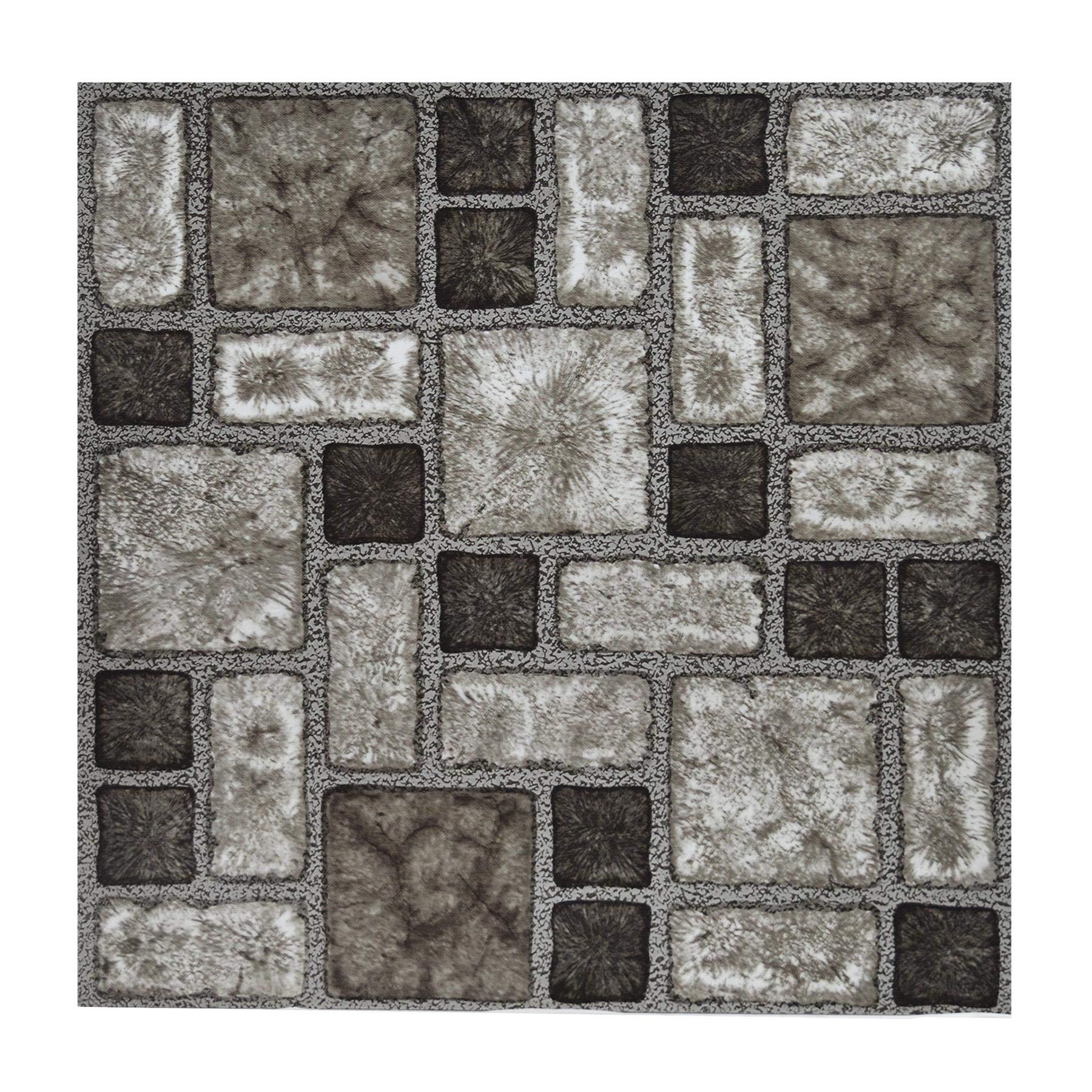 Floor Tiles Self Adhesive Vinyl Flooring Kitchen Bathroom Charcoal Stone Effect Buy Online In Mongolia At Desertcart Productid 159329156