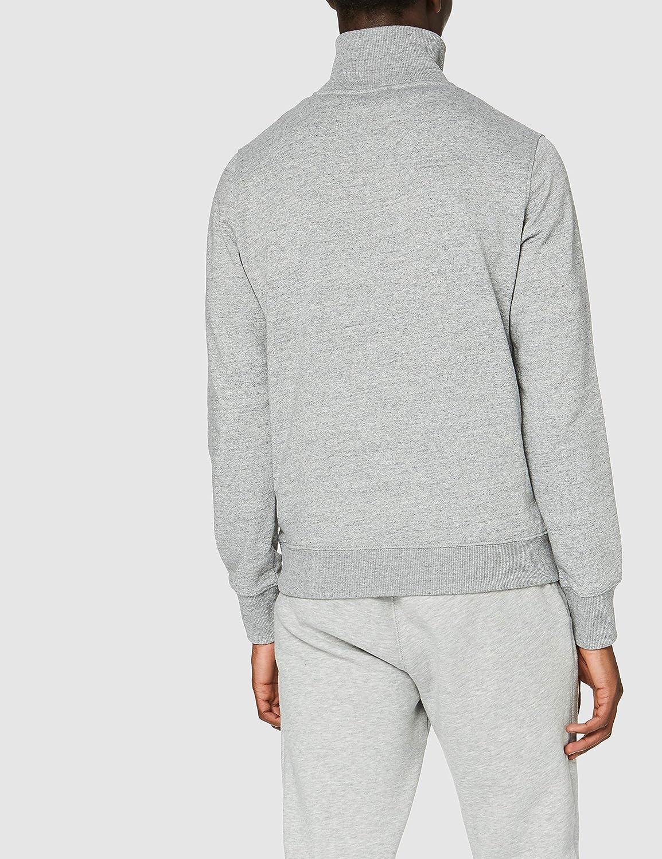 Superdry Herren Collective Half Zip Track Sweatshirt Grau (Collective Dark Grey Grit 9ss)