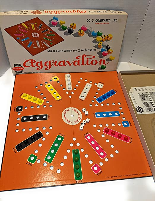 X-Rare! Juego de Mesa de mármol Vintage Original de 1962 [marrón] Aggravation Antiguo CO-5 edición de Fiesta n.º 14: Amazon.es: Juguetes y juegos