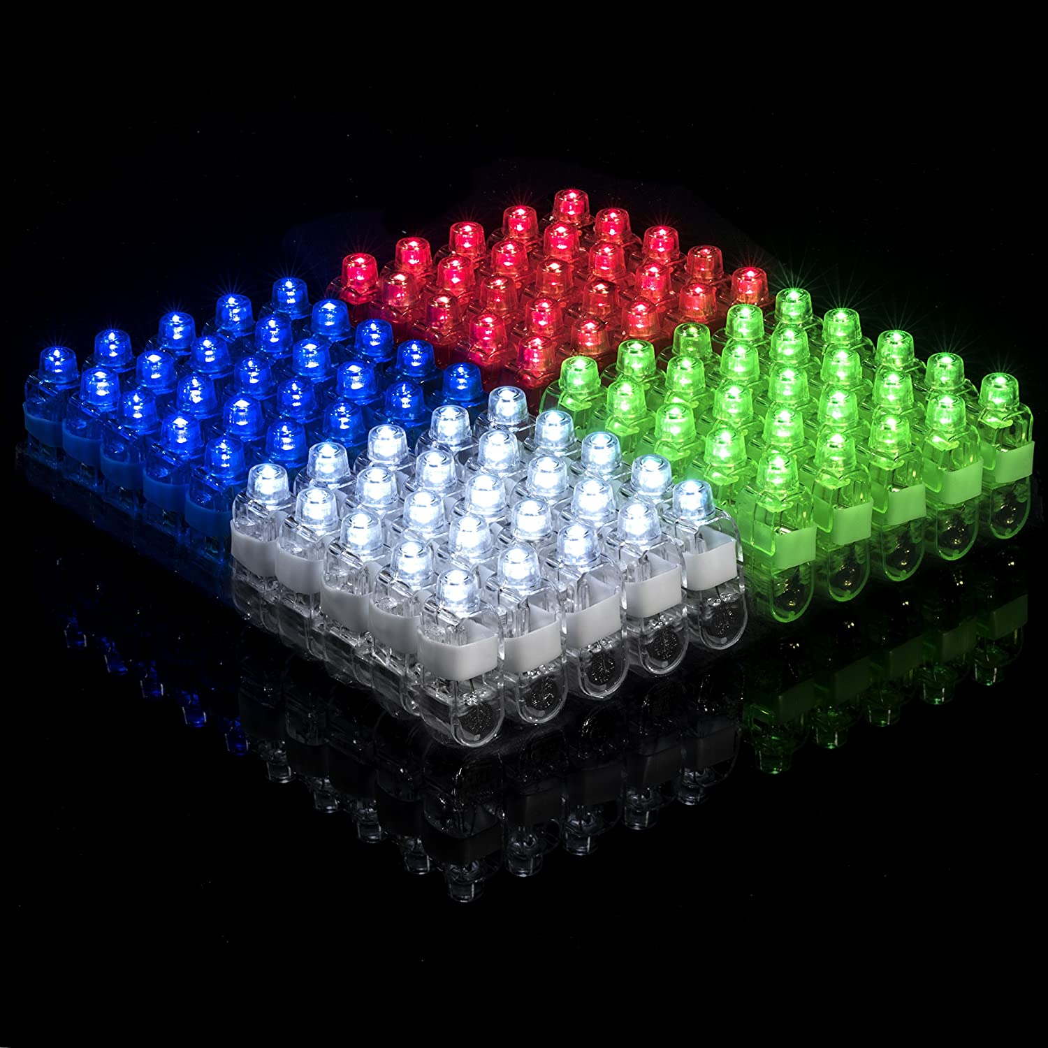 Light Up Rings LED Finger Lights 100pk – Glow Rings Bulk Party Favors for Kids Glow in The Dark Party Supplies Stocking Stuffers Rave Accessories