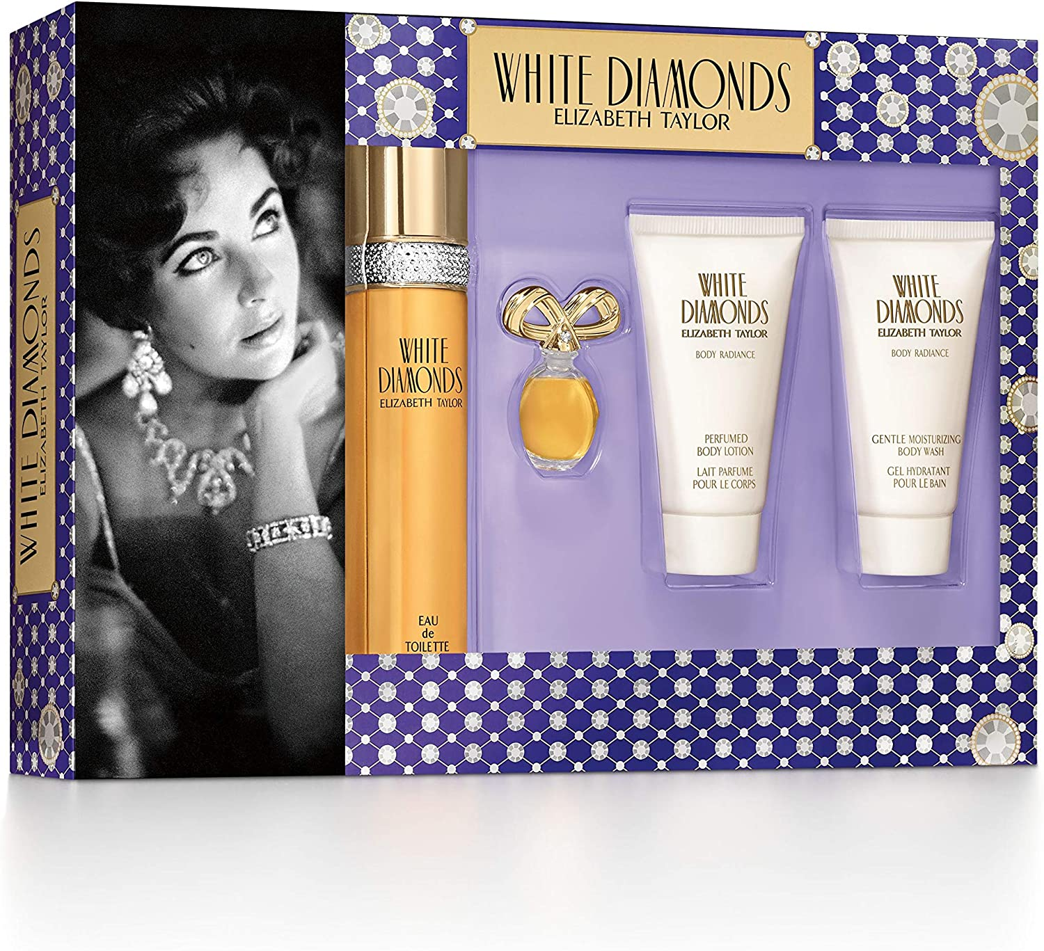 Elizabeth Taylor White Diamonds estuche Eau de Toilette 50 ml/Gel Hidratante Baño 50 ml/leche (aroma de cuerpo 50 ml/Miniature 3,5 ml: Amazon.es: Belleza