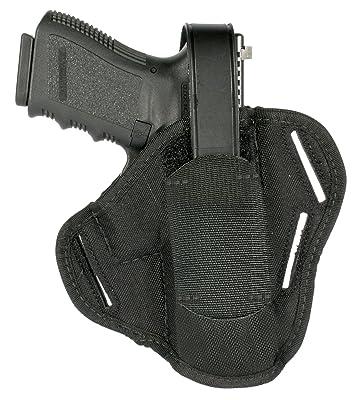 "BLACKHAWK! 3-Slot Ambidextrous Black Pancake Holster, Size 00, (2-3"" Barrel Sm/Med DA Revolver ex 2"" 5-shot)"
