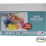 Brustro Artists' Watercolour Paper 300 GSM A3 -25% cotton, CP 2 Packets (Each Packet Contains 5+1 sheet)