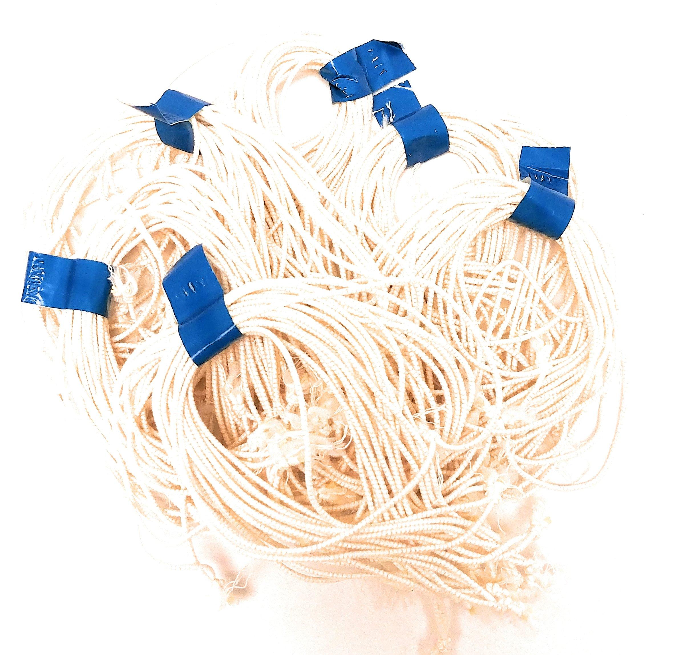 Clucker-Truss Elastic Gourmet Trussing Strings; 6 Inch White Heavy Duty; Bulk bag of 2,400 Ties (80 Bundles of 30/Bundle)