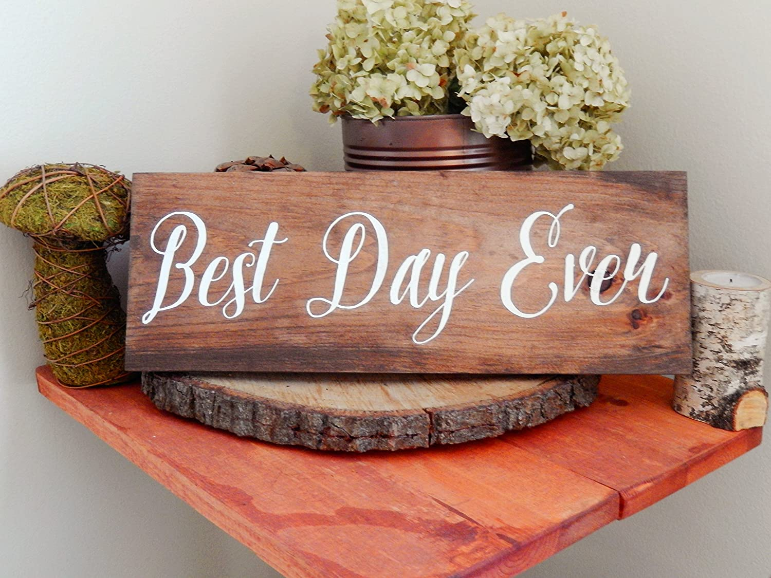 Amazon Best Day Ever Wedding Sign Rustic Wedding Sign Rustic