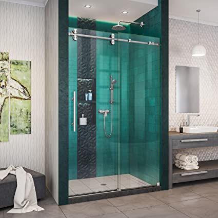 dreamline enigma shower door rolaire dreamline enigmaxo 4448 in 76 fully frameless sliding