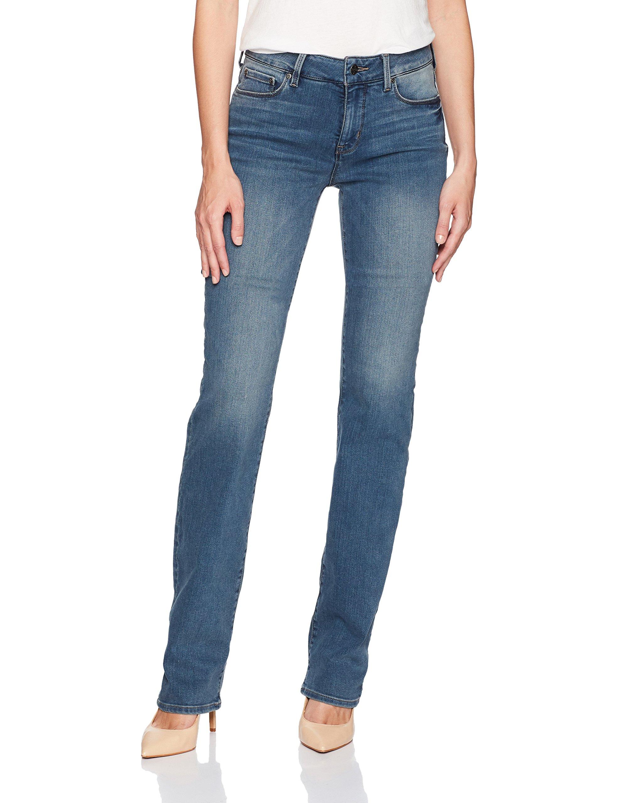 NYDJ Women's Marilyn Straight Leg Jeans, Ferris, 14
