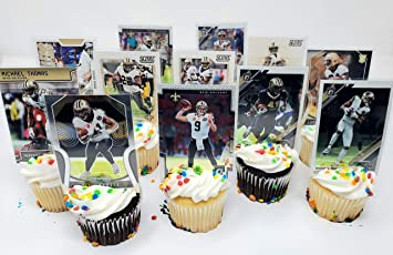 Astounding Amazon Com New Orleans Saints Birthday Cupcake Topper Party Favor Personalised Birthday Cards Veneteletsinfo