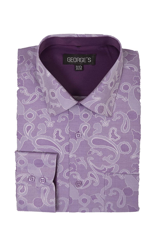 New Mens Dress Shirt High Fashion Paisley Quality Unique Design At