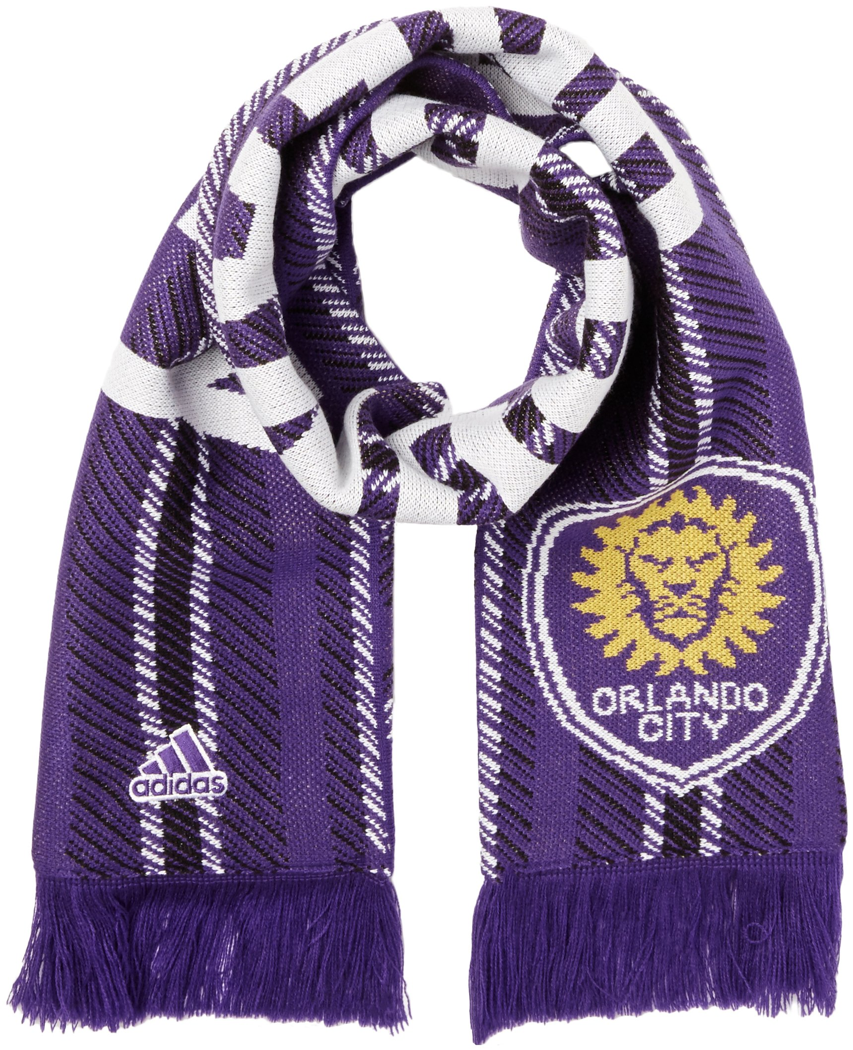 adidas MLS Orlando City SC Jacquard Scarf with Block Name, One Size, Purple