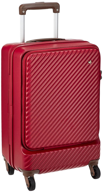 [ハント] スーツケース ミオ フロントポケット 13inchPC対応ポケット付 05750 機内持込可 34L 48cm 3.3kg 05750 B07D1BPRXR レッド レッド