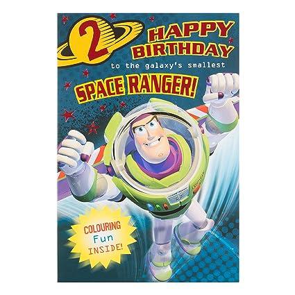 Tarjeta Hallmark de 2º cumpleaños con diseño de Buzz ...