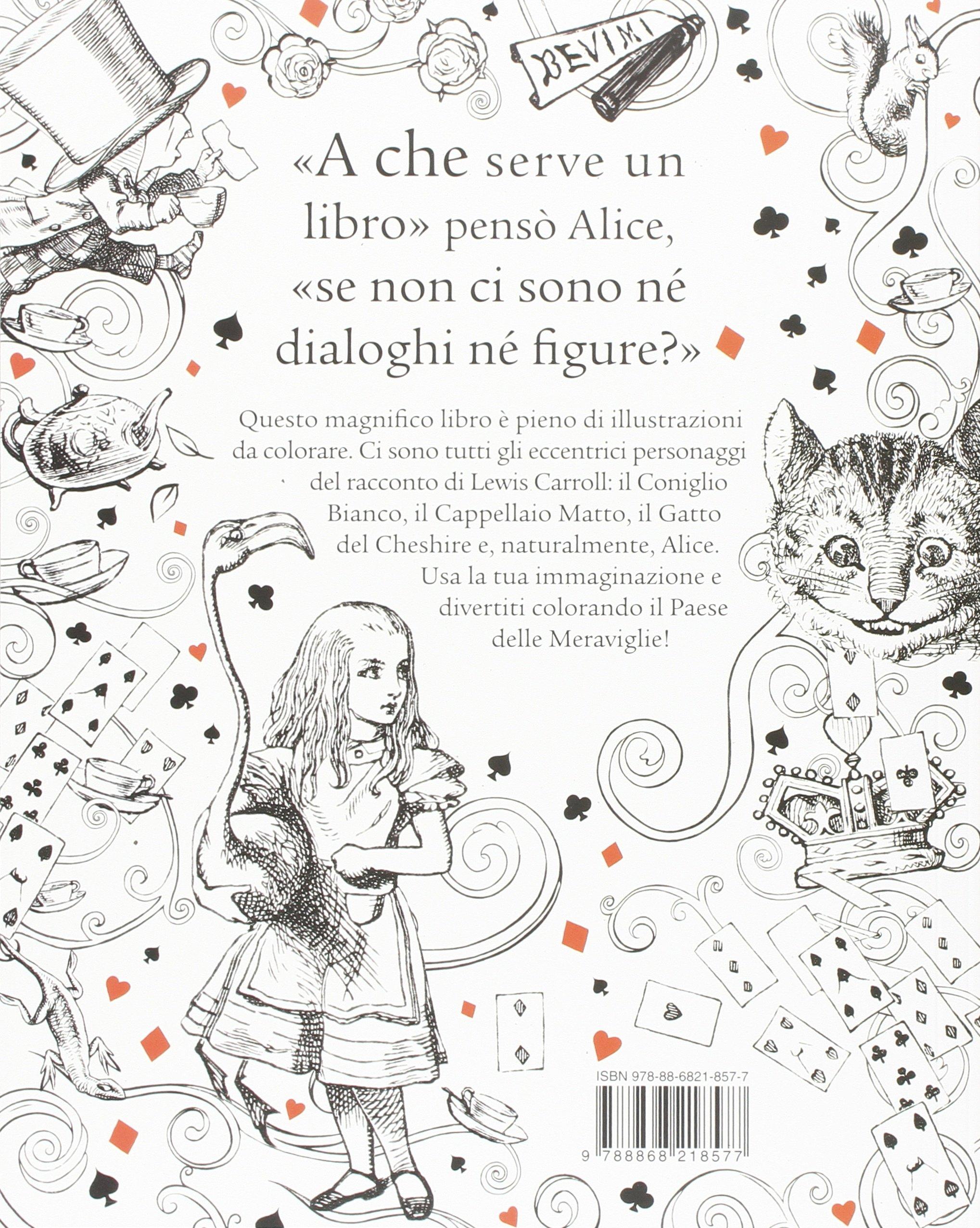 Amazon It Alice Nel Paese Delle Meraviglie Colouring Book Ediz